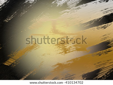 Gray golden abstract   background , with   painted   background texture for  design .