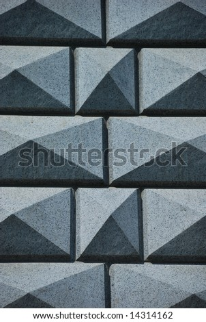 Gray granite wall as a well background