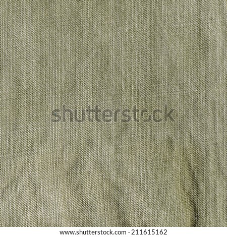 gray-green jeans texture as background
