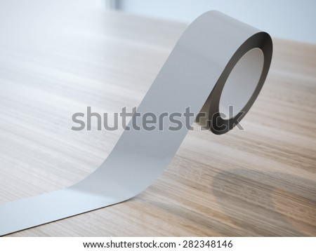 Gray insulating tape roll