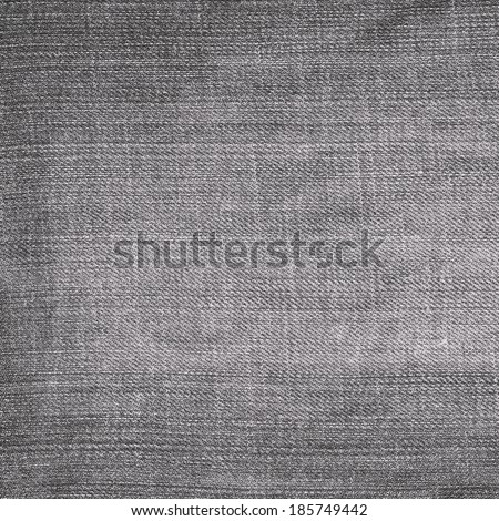 gray jeans fabric texture - stock photo