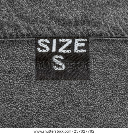 gray leather texture,seam, tag, size