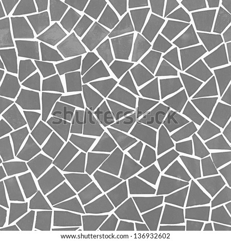 gray mosaic background or texture - stock photo