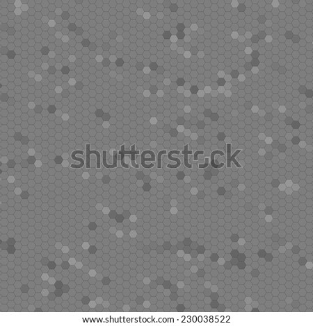 Gray mosaic with different shades of gray as a background. - stock photo
