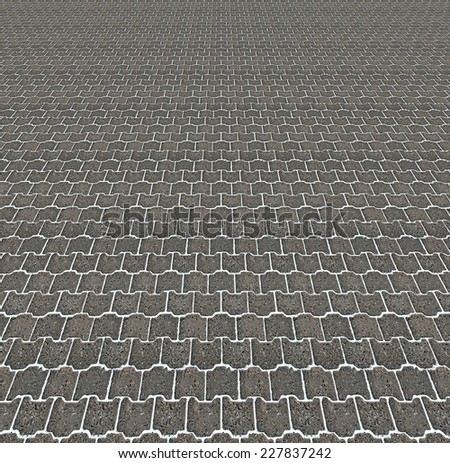 Gray pavement background with white gaps  - stock photo