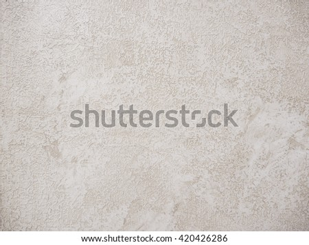 Gray Plastered Concrete Wall Background Texture Detail - stock photo