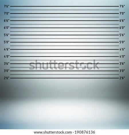 Gray police lineup or mug shot background - stock photo