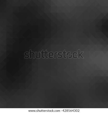 Gray polygonal illustration - stock photo
