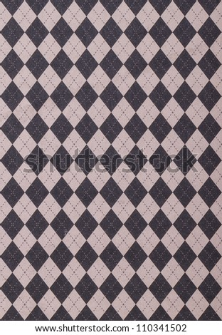 Gray Purple Tile Background With Argyle Pattern - stock photo