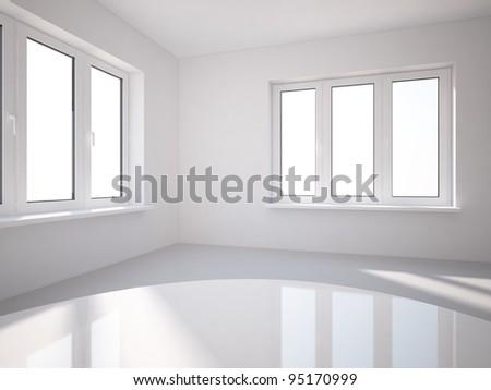 gray room - stock photo