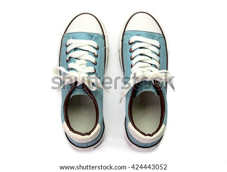 gray shoes isolated on white background