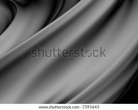 Gray silver silk sheet - stock photo