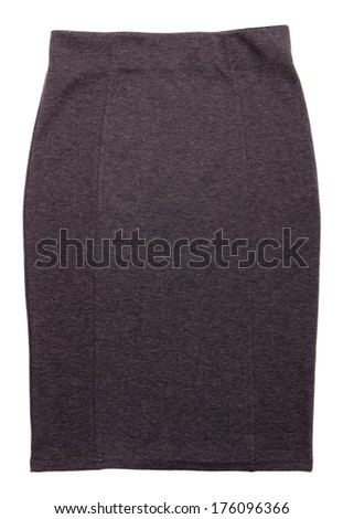 Gray skirt isolated on white