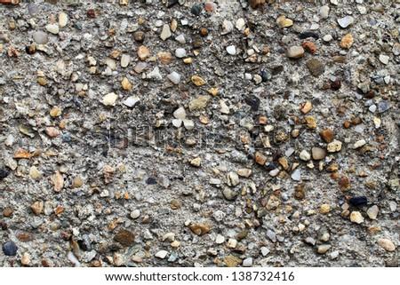 Gray small granite stone floor background - stock photo