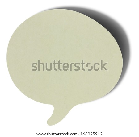 Gray speech bubbles sticky note of cartoon and comics over white background, with shadow - stock photo