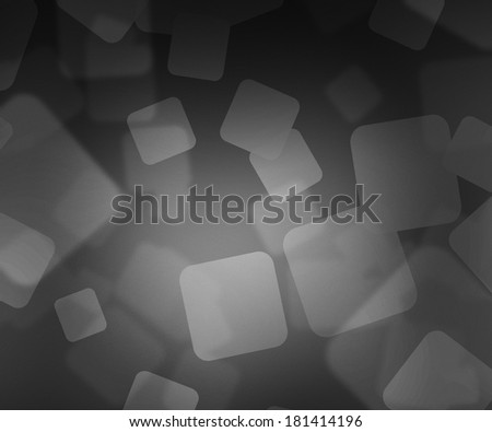 Gray Squares Bokeh - stock photo