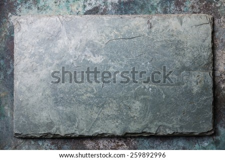 Gray stone slate background texture - stock photo