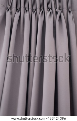 Gray striped curtains