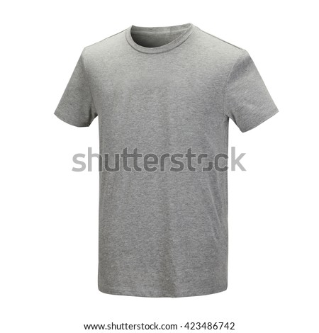 Gray T-shirt - stock photo