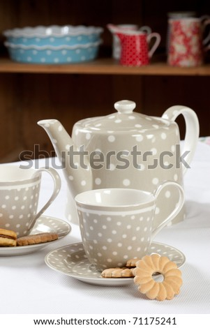 Gray tea set