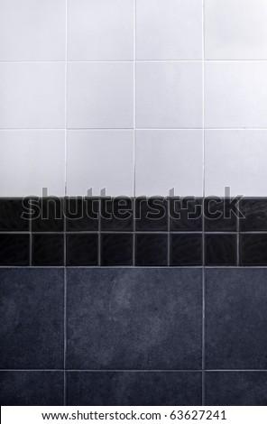 gray tile wall . - stock photo