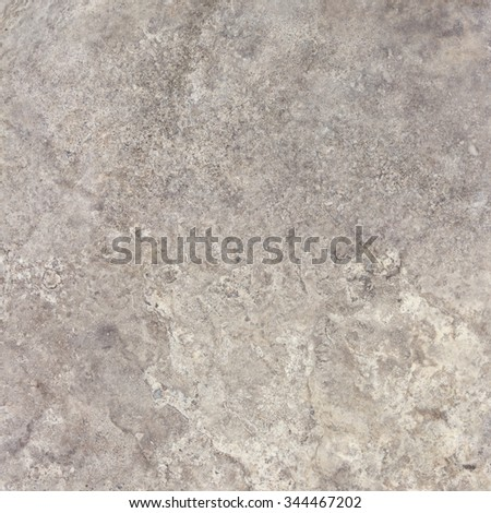 Gray travertine natural stone texture background. Approximately 2 by 2 foot area. - stock photo