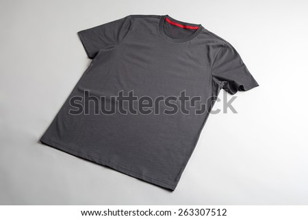Gray tshirt template ready for your graphic design. - stock photo