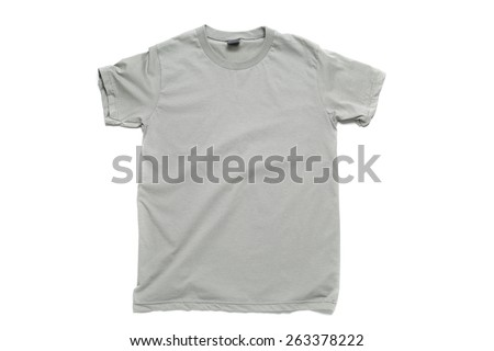 Gray tshirt template ready for your own graphics. - stock photo