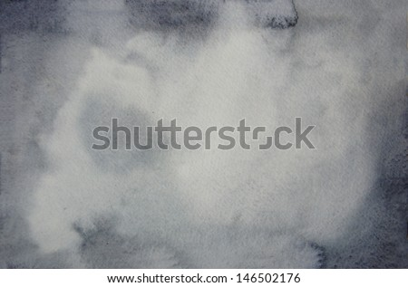 gray watercolor background - stock photo