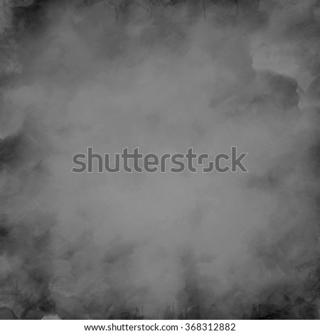 gray watercolor stained paper - abstract border - stock photo
