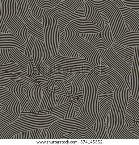 Gray Wave Line Pattern