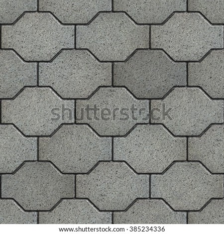 Gray with the Effect of Marble Wavy Paving Slabs. Seamless Tileable Texture. - stock photo