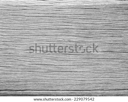 gray wood texture with crack - stock photo