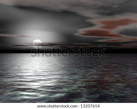 Grayest Morning - 3D Illustration - stock photo