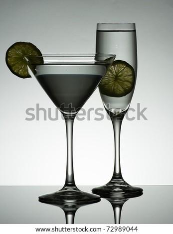 Grayish Martini - stock photo