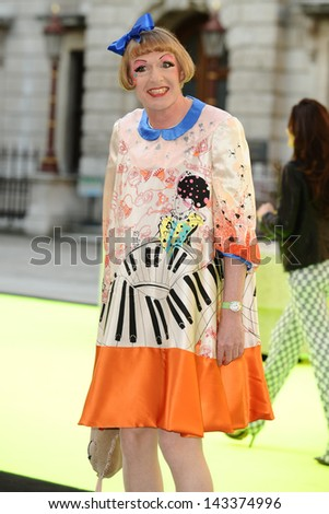 Grayson Perry arriving for the Royal Academy of Arts Summer Party 2013, London. 05/06/2013