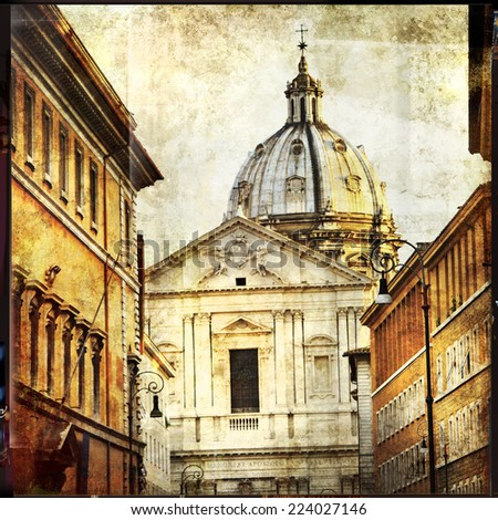 great antique Rome - vintage cards series - stock photo