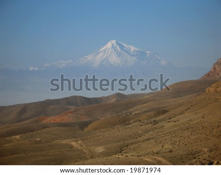 Great Ararat  Mountain, view from Armenia