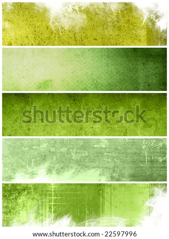 Great banners for textures and backgrounds - stock photo