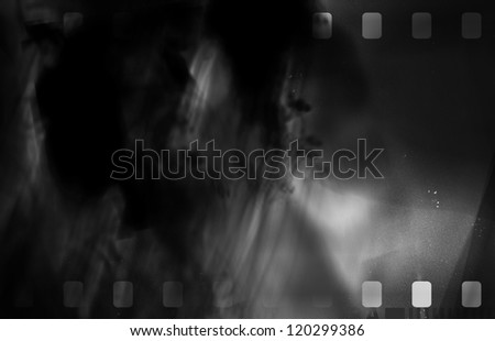 Great black and white film strip for textures and backgrounds - stock photo