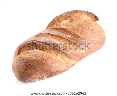 Great bread placed on white background. - stock photo