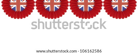 Great Britain British Flag pennants buntings isolated on white background with room for your text - stock photo