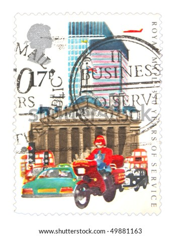 GREAT BRITAIN - CIRCA 1985: A stamp printed in the Great Britain showing Royal Mail circa 1985