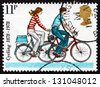 GREAT BRITAIN - CIRCA 1995: a stamp printed in the Great Britain shows Modern Small-wheel Bicycles, Centenary of 1st National Cycling Organization, circa 1995 - stock photo