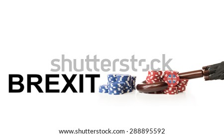 Great Britain leaves the European Union - stock photo