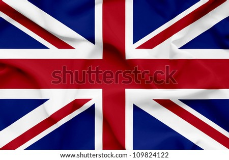 Great Britain waving flag - stock photo