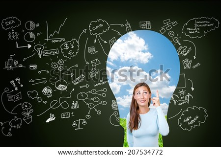 great business ideas in the head - stock photo