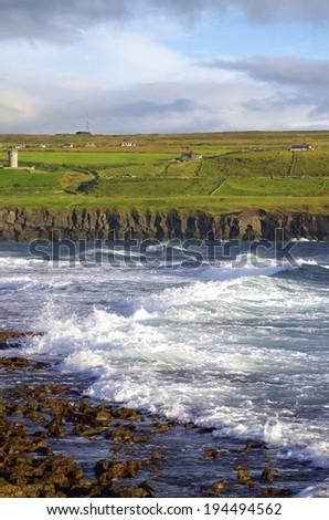 great coastline near Doolin - stock photo