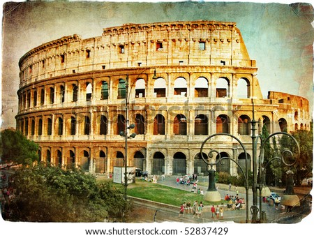 great Colisey - retro styled picture - stock photo