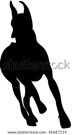 Great Dane silhouette - stock photo